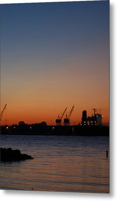 Sunset On The Detroit River 2 Metal Print