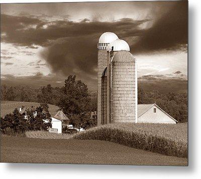 Sunset On The Farm S Metal Print by David Dehner