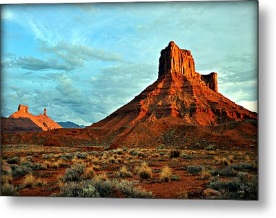 Sunset On The Mesa Metal Print by Marty Koch