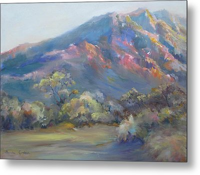 Sunset On The Mountains Metal Print by Bonnie Goedecke