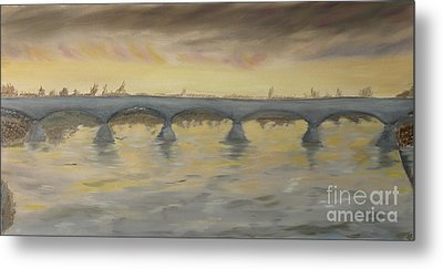 Sunset On The Ticino - Homage To Turner Metal Print by Nicla Rossini