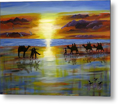 Sunset On The Top End Metal Print by Susan McLean Gray