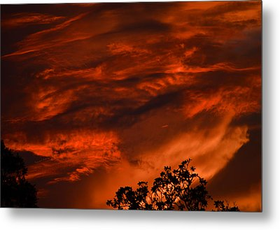 Metal Print featuring the photograph Sunset Over Altoona by DigiArt Diaries by Vicky B Fuller