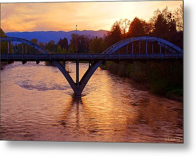 Sunset Over Caveman Bridge Metal Print
