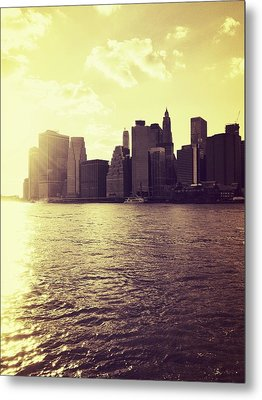 Sunset Over Manhattan Metal Print by Vivienne Gucwa