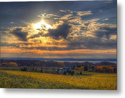 Sunset Over The Bay Metal Print by Twenty Two North Photography