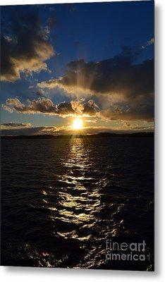Sunset Over Winnepesaukee Metal Print