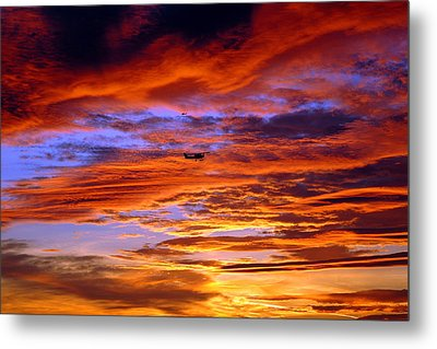 Sunset Pattern Metal Print by Dan Myers