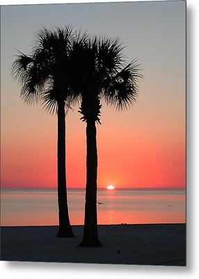 Sunset Pink Metal Print