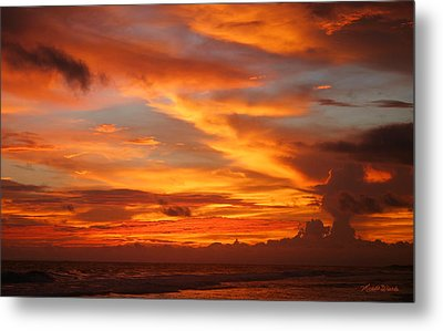 Sunset Playa Hermosa Costa Rica Metal Print by Michelle Wiarda