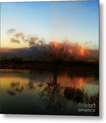 Sunset Reflections Metal Print by Isabella F Abbie Shores