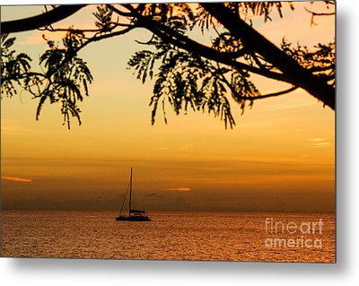 Sunset Sail Metal Print by Rene Triay Photography