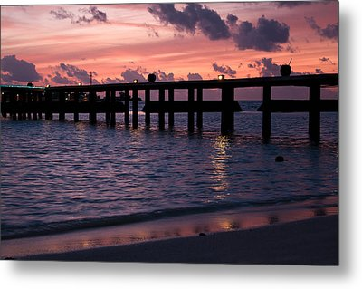 Metal Print featuring the photograph Sunset by Shirley Mitchell