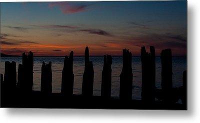 Sunset Silhouette Metal Print by Matt Dobson