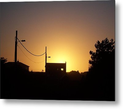 Metal Print featuring the photograph Sunset Silhouette by Peter Mooyman