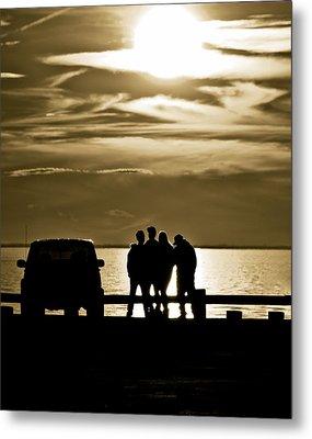 Sunset Silhouette Metal Print by Vicki Jauron