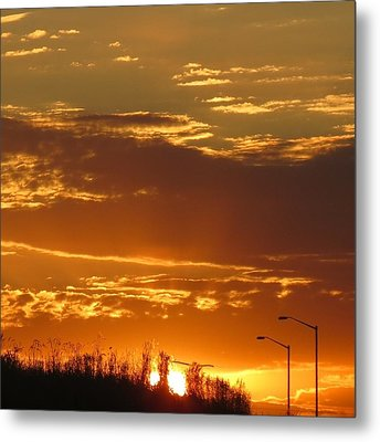 Metal Print featuring the photograph Sunset Skies by Nikki McInnes
