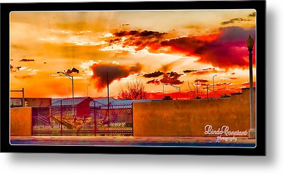 Sunset Station Metal Print