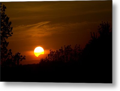 Metal Print featuring the photograph Sunset Sun Eclipse by Nick Mares