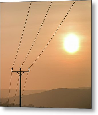 Sunset Telecoms Metal Print by Peter Chadwick LRPS