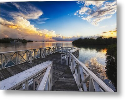 Sunset To Relax Metal Print by George Oze