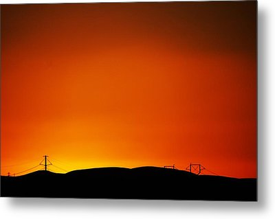 Sunset Towers Metal Print by Michael Courtney