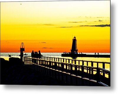 Metal Print featuring the photograph Sunset Walk by Randall  Cogle