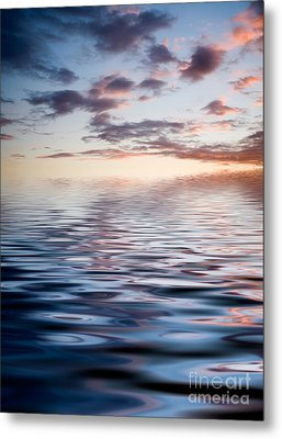 Sunset With Reflection Metal Print by Kati Molin
