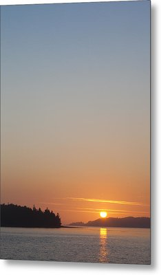 Sunset With The Mountains Of Vancouver Metal Print by Taylor S. Kennedy