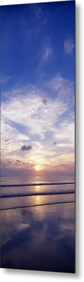 Sunsets Over The Beach, Magheraroarty Metal Print by The Irish Image Collection