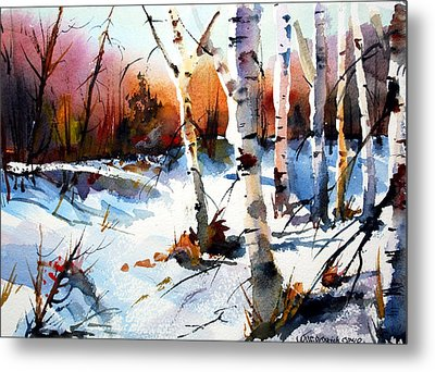 Sunshine And Birch Metal Print