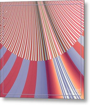 Sunshine And Rain Fractal 132 Metal Print by Rose Santuci-Sofranko