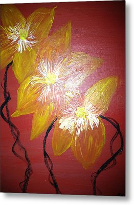 Sunshine Flowers Metal Print by Pretchill Smith