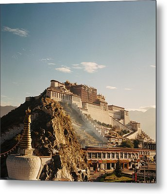 Sunshine In Potala Metal Print by Mona