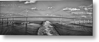 Sunshine Skyway Bridge Metal Print by Gordon Engebretson