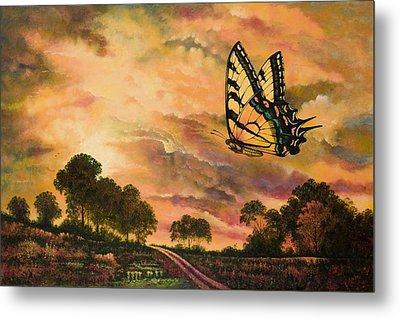 Sunshine Traveler-swallowtail Metal Print by Michael Frank