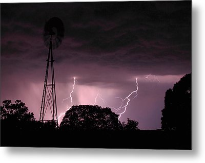 Super Storm Metal Print by Linda Unger