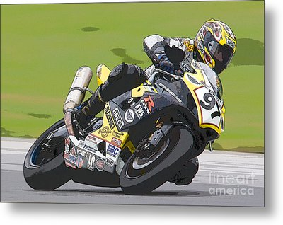 Superbike Racer II Metal Print by Clarence Holmes