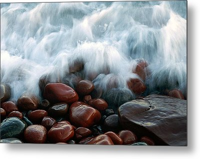 Superior On The Rocks Metal Print by Bill Morgenstern