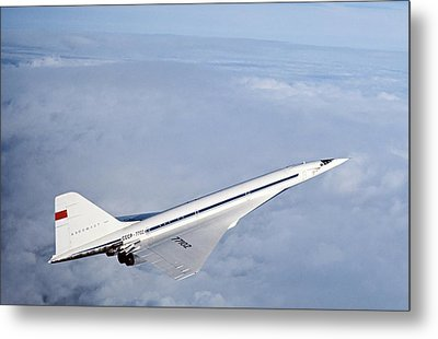 Supersonic Soviet Tu-144 Aircraft, 1973 Metal Print