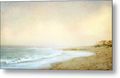 Metal Print featuring the photograph Surf Casters by Karen Lynch
