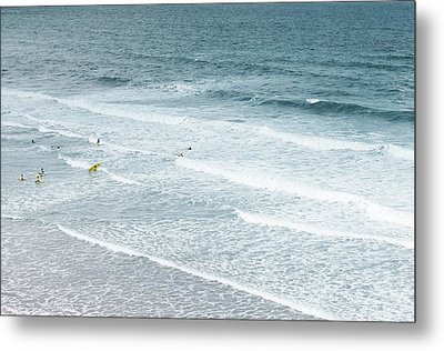 Surf Lesson Metal Print by Thenakedsnail