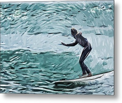 Surf Metal Print by Tilly Williams