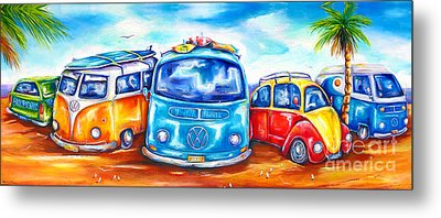Surf Wagons Metal Print