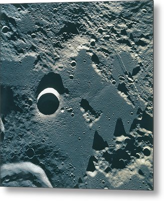 Surface Of The Moon Metal Print by Stockbyte