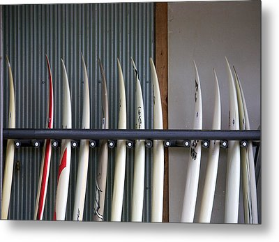 Surfboards Metal Print by Ivan SABO
