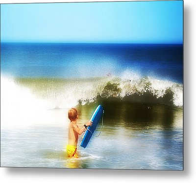 Surfer Boy Metal Print by Trudy Wilkerson