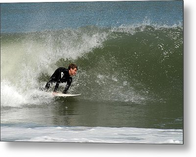 Surfing 398 Metal Print by Joyce StJames