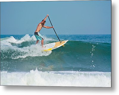 Metal Print featuring the photograph Surfing And Paddling by Ann Murphy