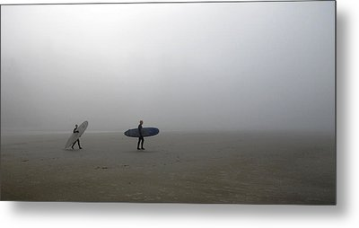 Surfing Into The Abyss Metal Print